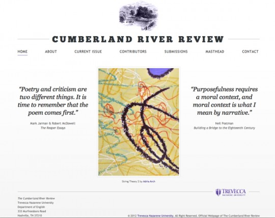 The Cumberland River Review Inaugural Issue