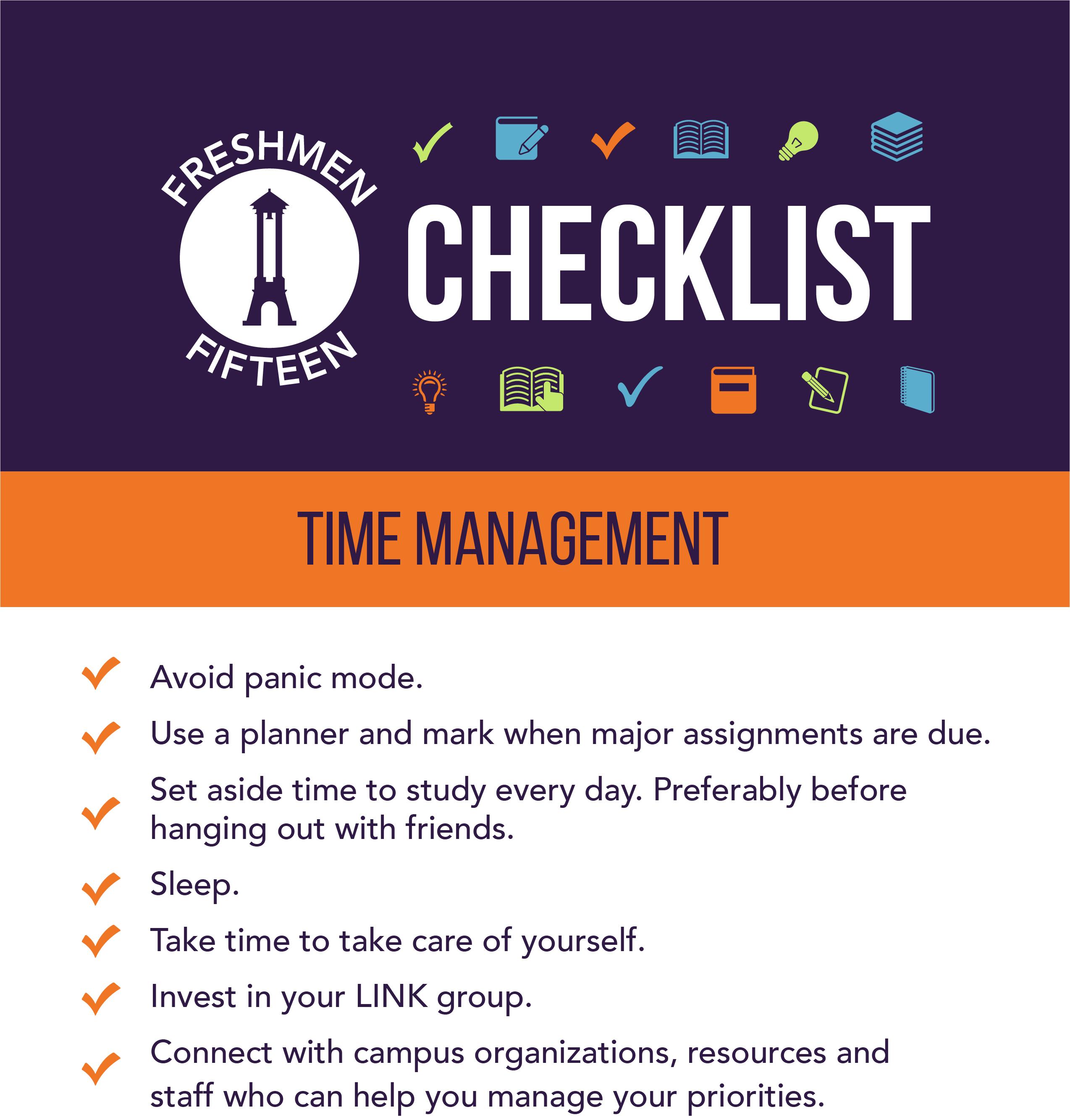 Freshmen 15_Checklist Time Management